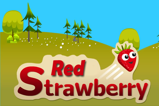 بازی پرشی توت فرنگی قرمز