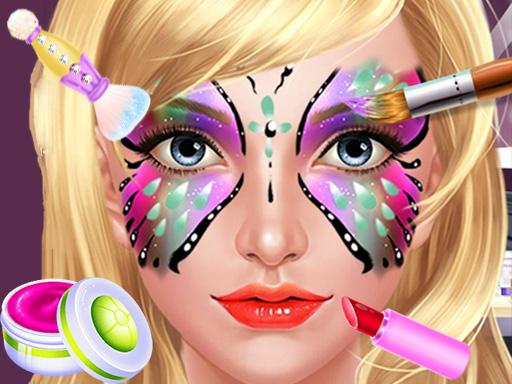بازی دخترانه نقاشی روی صورت