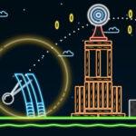 بازی آنلاین مهارتی  Neon Catapult
