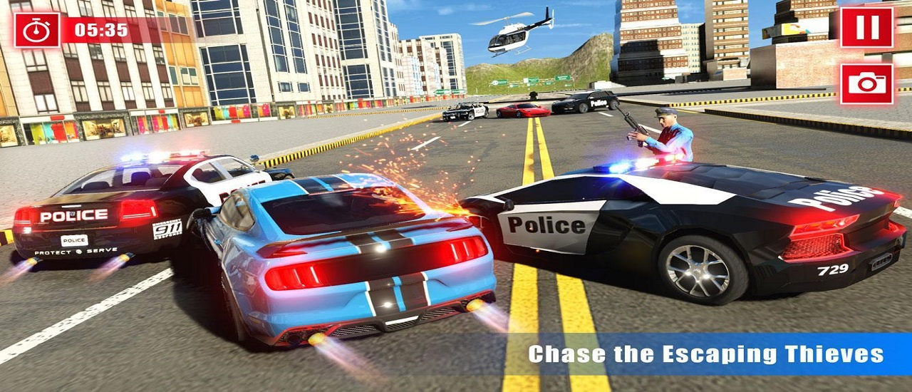 Image بازی آنلاین مسابقه رانندگی اتومبیلرانی و  پلیس بزرگ راه