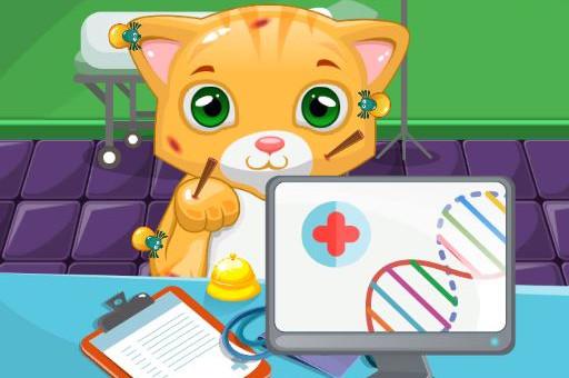 بازی انلاین دخترانه دکتر گربه
