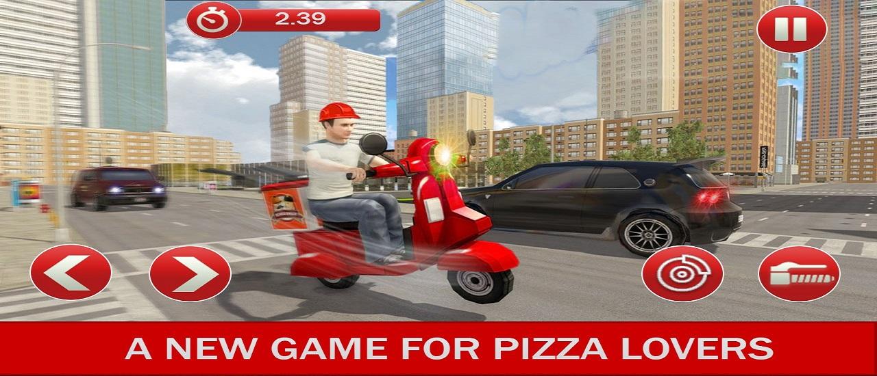 Image بازی رساندن پیتزا به مشتری