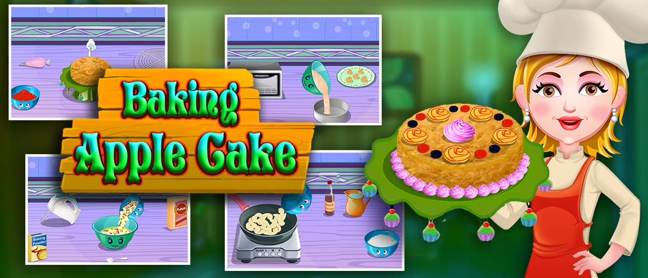 Image بازی دخترانه پخت کیک سیب