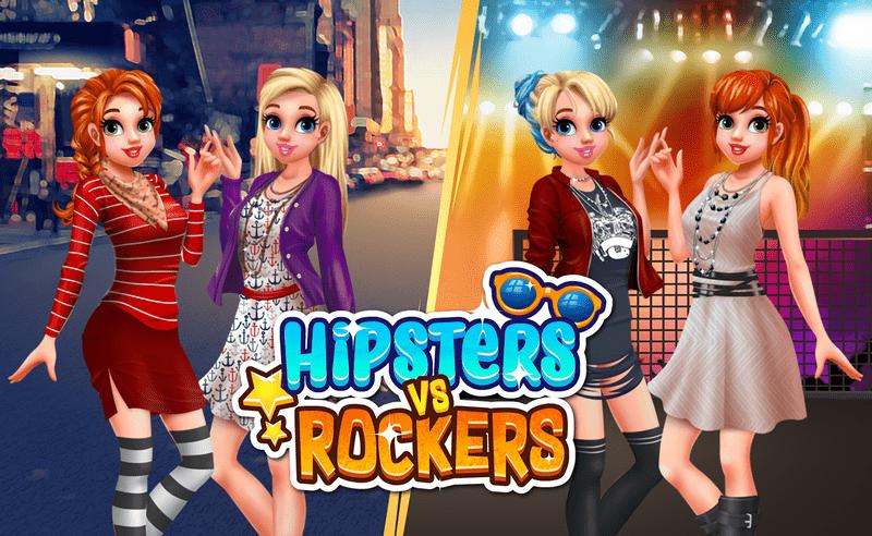 بازی آنلاین دخترانه Hipsters vs Rockers