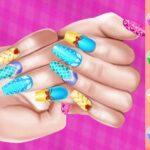 بازی آنلاین دخترانه Princess Theme Nail Art DIY Game