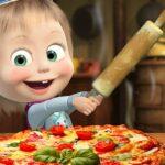 بازی آنلاین دخترانه آشپزی Masha And The Bear Pizzeria