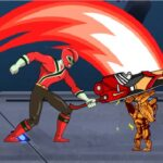 بازی آنلاین جنگی Power Rangers Kill Space Zombies