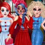 بازی آنلاین دخترانه Princess Halloween Party Prep