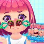 بازی دخترانه جراحی زیبایی بینی